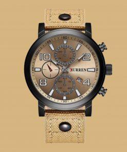 תמונה של שעון curren בצבע חרדל יוקרתי ומיוחד