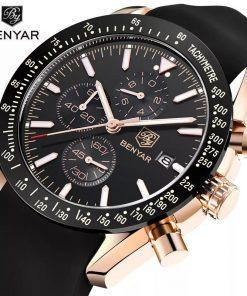 תמונה של שעונים לגברים יוקרתי בצבע שחור