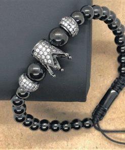 תמונה של צמיד כתר שחור