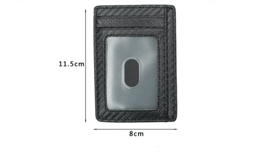 תמונה של ארנקי כרטיסים לגבר סיבי פחמן בצבע שחור