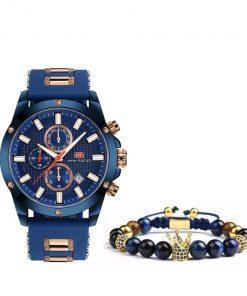 תמונה של שעון צמיד בצבע כחול יוקרתי