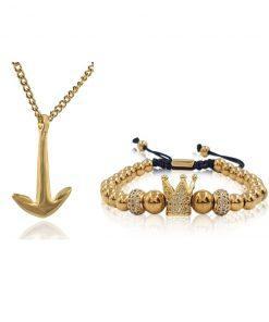 תמונה של סט תכשיטים זהב לגבר
