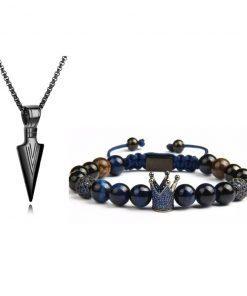 תמונה של סט תכשיטים צמיד ושרשרת לגבר