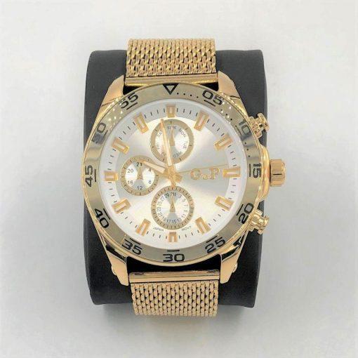 תמונה של שעון gp לגבר בצבע זהב יוקרתי
