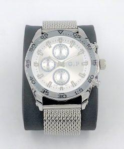 תמונה של שעון יד לגבר gp בצבע כסף