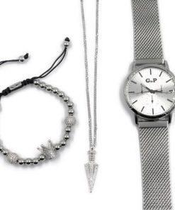 תמונה של תכשיטי גברים צמיד לגבר שעון ושרשרת מיוחדת לגברים