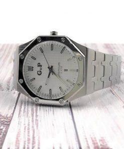 תמונה של שעון יד לגבר gp בצבע כסף יוקרתי