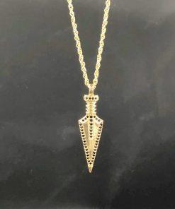 תמונה של שרשרת חנית לגבר בצבע זהב מיוחד עם תליון