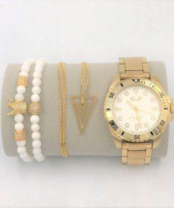תמונה של סט תכשיטים שעון צמיד ושרשרת סט יוקרתי ומיוחד