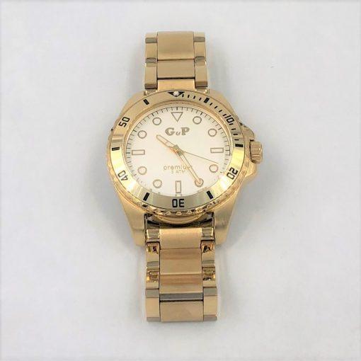 תמונה של שעון יד לגבר gp בצבע זהב עשוי פלדת אל חלד