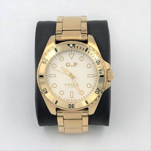 תמונה של שעון לגבר בצבע זהב מבית gp