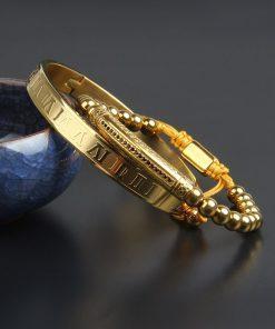 תמונה של סט צמידים לגבר בצבע זהב מיוחד