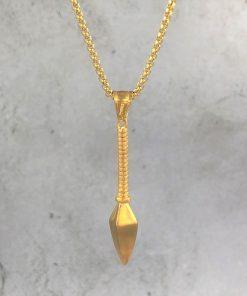 תמונה של שרשרת חנית בצבע זהב מיוחדת