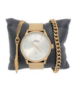 תמונה של מתנה לגבר סט שעון צמיד ושרשרת בצבע זהב מיוחד