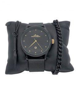 תמונה של מתנות לגבר שעון צמיד ושרשרת בצבע שחור
