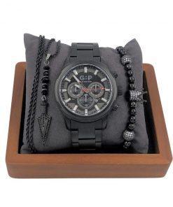 תמונה של סט תכשיטים מיוחד בצבע שחור קלאסי