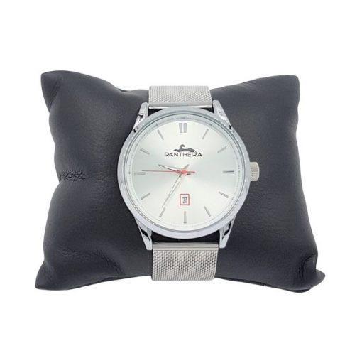 תמונה של שעון לגבר מדגם פנטרה בעיצוב חדש צבע כסף
