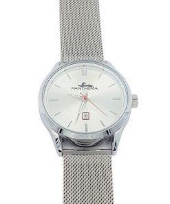 תמונה של שעון לגבר מדגם פנטרה בצבע כסף עם לוח מיוחד