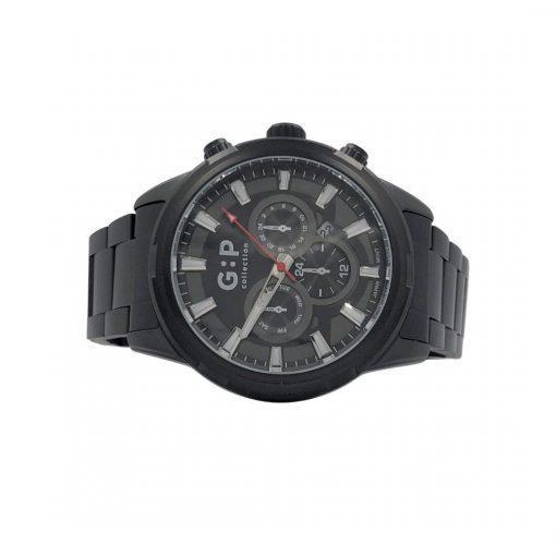 תמונה של שעון שחור מיוחד עם אלמנט אדום
