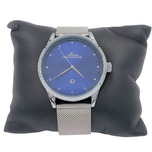 תמונה של שעון יד לגבר פנטרה בצבע כסף יוקרתי ומיוחד