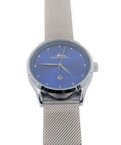 תמונה של שעוני פנטרה בצבע כסף עם רקע כחול יוקרתי
