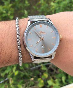 תמונה של שעון וצמיד לגבר כסף