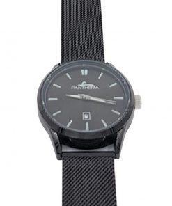 תמונה של שעון מבית פנטרה לגבר בצבע שחור עם לוח שחור ומחוונים לבנים
