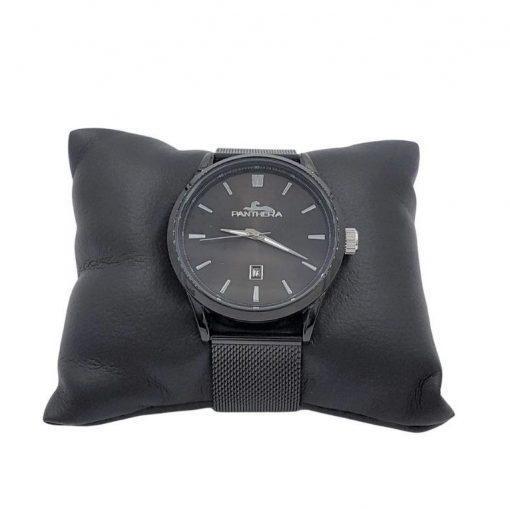 תמונה של שעון מבית פנטרה לגבר בצבע שחור עם אלמנט לבן