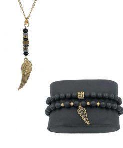 תמונה של סט תכשיטים כנף זהב