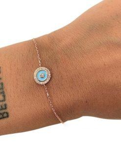 תמונה של צמיד רוז גולד מעגל מיוחד